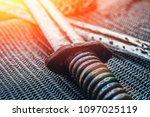 ancient swords blades  antique... | Shutterstock . vector #1097025119