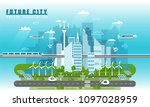 smart city landscape of the... | Shutterstock .eps vector #1097028959