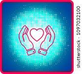 hands holding heart icon....   Shutterstock .eps vector #1097032100