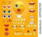 female emoji mouth animation... | Shutterstock .eps vector #1097032709