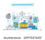 logistics and transportation ... | Shutterstock . vector #1097037650
