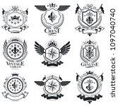 vintage heraldry design... | Shutterstock .eps vector #1097040740