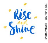 rise and shine lettering on... | Shutterstock .eps vector #1097041433