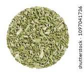 dried sage. herb circle from... | Shutterstock . vector #1097041736