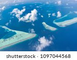 beautiful maldives nature view. ... | Shutterstock . vector #1097044568