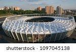 kiev ukraine may 12  aerial... | Shutterstock . vector #1097045138