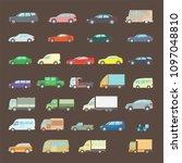 a large set of color transport  ... | Shutterstock .eps vector #1097048810