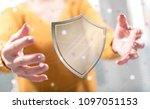 protection concept between... | Shutterstock . vector #1097051153