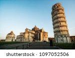 leaning tower of pisa in pisa ... | Shutterstock . vector #1097052506