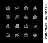 set of establishment  city... | Shutterstock .eps vector #1097055173