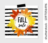 vector illustration  autumn... | Shutterstock .eps vector #1097056496