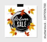 vector illustration  autumn... | Shutterstock .eps vector #1097056700
