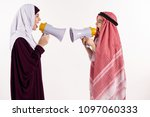 arab mother and little son in... | Shutterstock . vector #1097060333