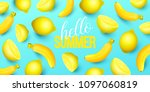 summer background with fruits.... | Shutterstock .eps vector #1097060819