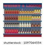 supermarket shelf display with...   Shutterstock .eps vector #1097064554
