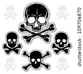 Set Of Skulls With Crossbones...