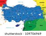 turkey map | Shutterstock .eps vector #109706969