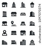 set of vector isolated black... | Shutterstock .eps vector #1097070374