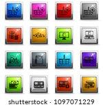 e commerce vector icons in...   Shutterstock .eps vector #1097071229