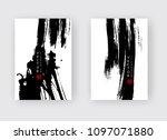 black ink brush stroke on white ...   Shutterstock .eps vector #1097071880