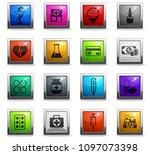 drug store vector icons in...   Shutterstock .eps vector #1097073398