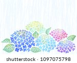 background of japanese rainy... | Shutterstock .eps vector #1097075798