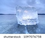 natural ice blocks. ice floe...   Shutterstock . vector #1097076758