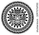 circular pattern in form of... | Shutterstock .eps vector #1097076950
