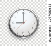 a clock with on the checked... | Shutterstock .eps vector #1097080688