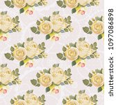 seamless floral pattern with... | Shutterstock .eps vector #1097086898