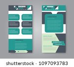 vector flyer and leaflet design.... | Shutterstock .eps vector #1097093783