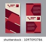 vector flyer and leaflet design....   Shutterstock .eps vector #1097093786