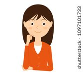 illustration of a young woman...   Shutterstock .eps vector #1097101733