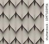 geometric pattern. linear roof... | Shutterstock .eps vector #1097103956