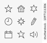 set star line icon stock vector ...