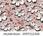 flowers design big floral... | Shutterstock .eps vector #1097111336