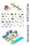 set of isolated high quality... | Shutterstock .eps vector #1097113136