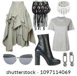 mood board fashion clothes ...   Shutterstock . vector #1097114069