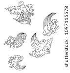 line thai style.outline... | Shutterstock .eps vector #1097115578