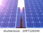 3d rendering solar power... | Shutterstock . vector #1097120240