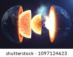 structure core earth. structure ...   Shutterstock . vector #1097124623