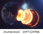 structure core earth. structure ... | Shutterstock . vector #1097124986