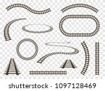 rails set isolated. vector... | Shutterstock .eps vector #1097128469