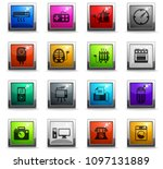 home appliances vector icons in ... | Shutterstock .eps vector #1097131889