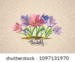 vintage vector background with... | Shutterstock .eps vector #1097131970