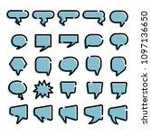 blue comic speech bubble ...   Shutterstock .eps vector #1097136650