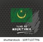 mauritania flag  vector sketch... | Shutterstock .eps vector #1097137796