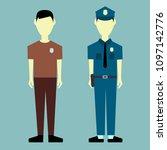 policeman character vector... | Shutterstock .eps vector #1097142776