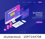 business analysis system ... | Shutterstock .eps vector #1097144708