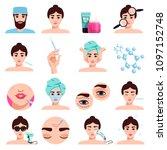 facial rejuvenation cosmetic... | Shutterstock .eps vector #1097152748